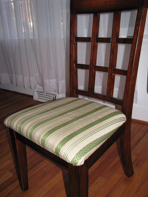 Recovering dining room chair chair pads cushions - Recovering dining room chairs ...